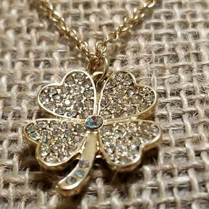 Crystal 4 Leaf Clover Necklace